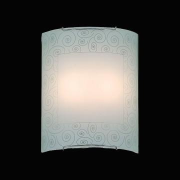 Настенный светильник Citilux Спирали CL922012, 2xE27x100W, хром, белый, металл, стекло - миниатюра 2