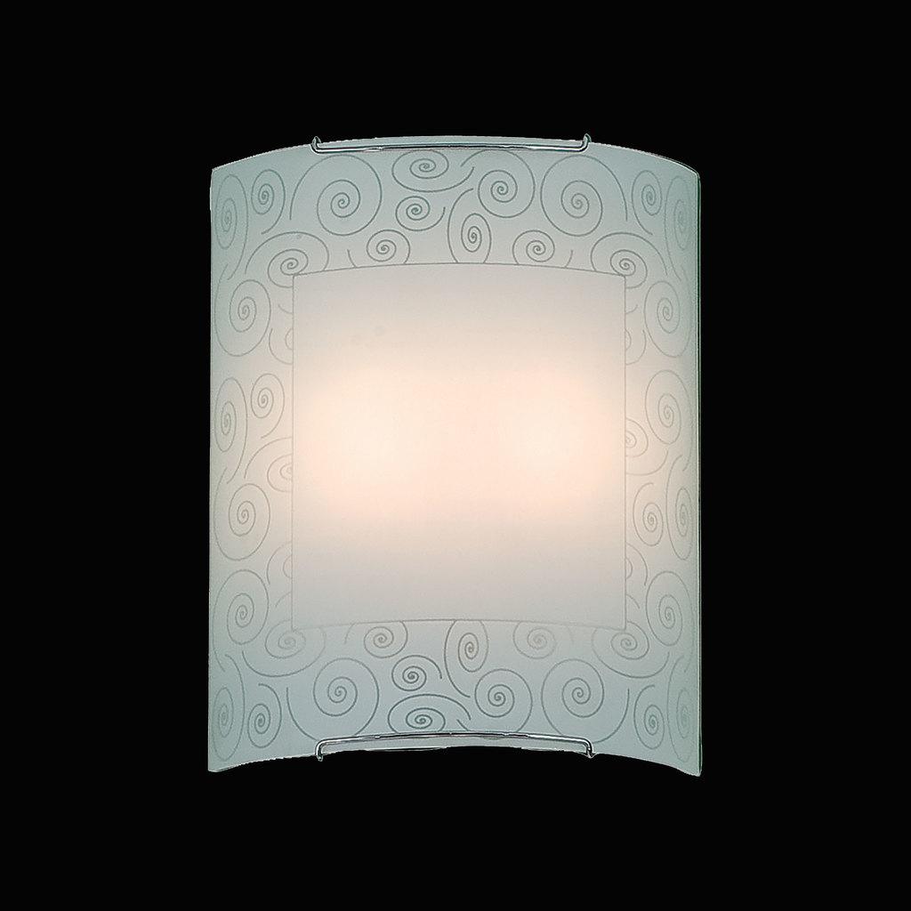 Настенный светильник Citilux Спирали CL922012, 2xE27x100W, хром, белый, металл, стекло - фото 2