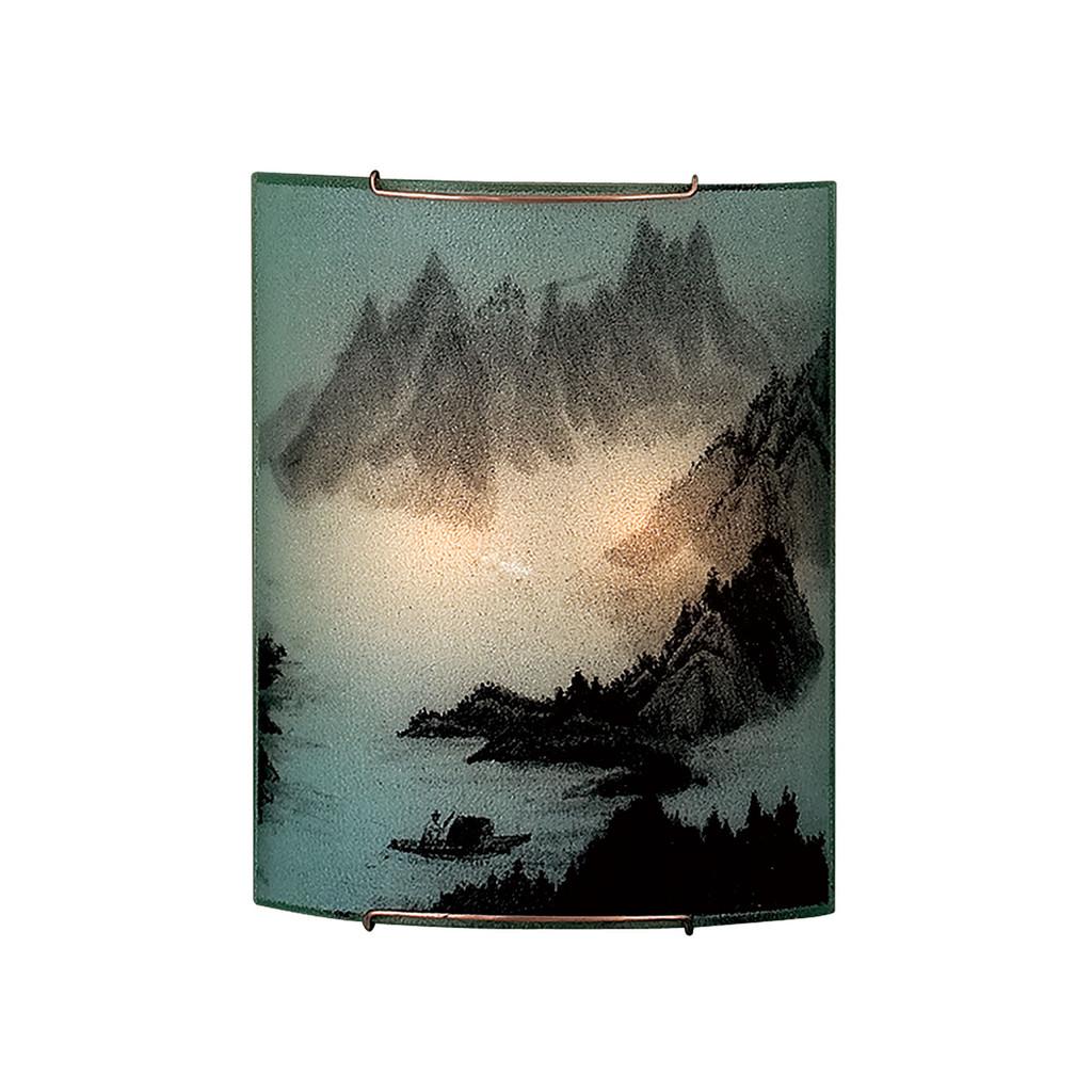 Настенный светильник Citilux Шань CL922013, 2xE27x100W, хром, разноцветный, металл, стекло - фото 1