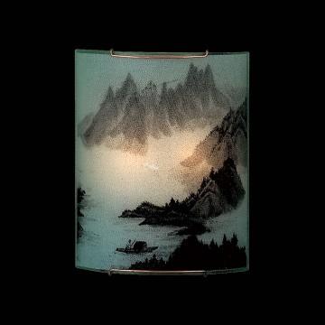 Настенный светильник Citilux Шань CL922013, 2xE27x100W, хром, разноцветный, металл, стекло - миниатюра 2
