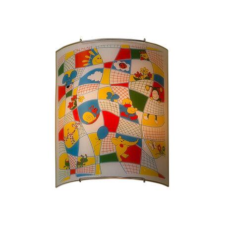 Настенный светильник Citilux Тетрадка CL922014, 2xE27x100W, хром, разноцветный, металл, стекло