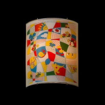Настенный светильник Citilux Тетрадка CL922014, 2xE27x100W, хром, разноцветный, металл, стекло - миниатюра 2
