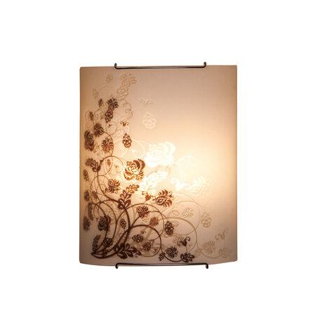 Настенный светильник Citilux Флора CL922015, 2xE27x100W, хром, белый, коричневый, металл, стекло - миниатюра 1