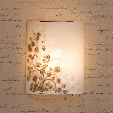 Настенный светильник Citilux Флора CL922015, 2xE27x100W, хром, белый, коричневый, металл, стекло - миниатюра 3