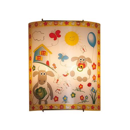 Настенный светильник Citilux Барашки CL922016, 2xE27x100W, хром, разноцветный, металл, стекло