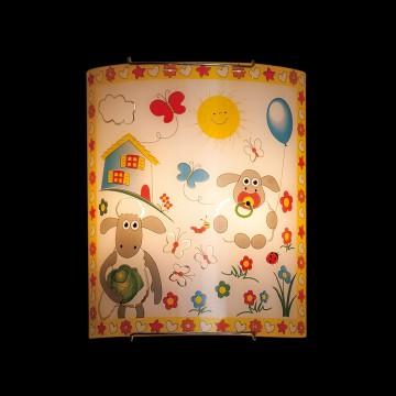 Настенный светильник Citilux Барашки CL922016, 2xE27x100W, хром, разноцветный, металл, стекло - миниатюра 2