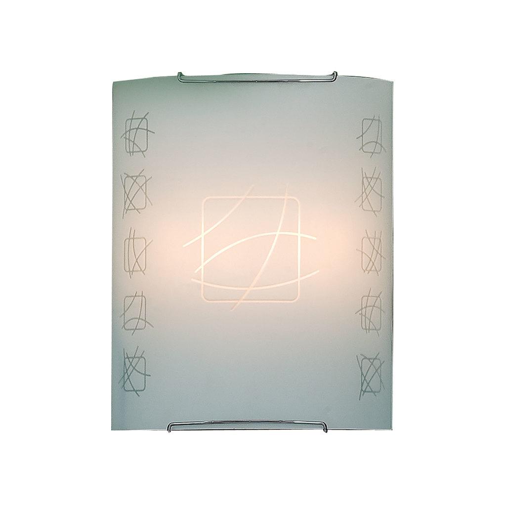 Настенный светильник Citilux Дина CL922021, 2xE27x100W, хром, белый, металл, стекло - фото 1