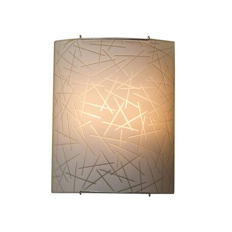 Настенный светильник Citilux Крона CL922061, 2xE27x100W, хром, белый, металл, стекло