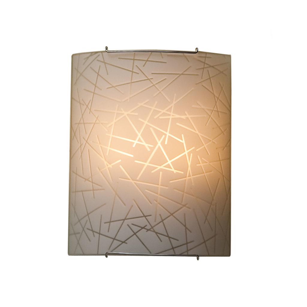Настенный светильник Citilux Крона CL922061, 2xE27x100W, хром, белый, металл, стекло - фото 1