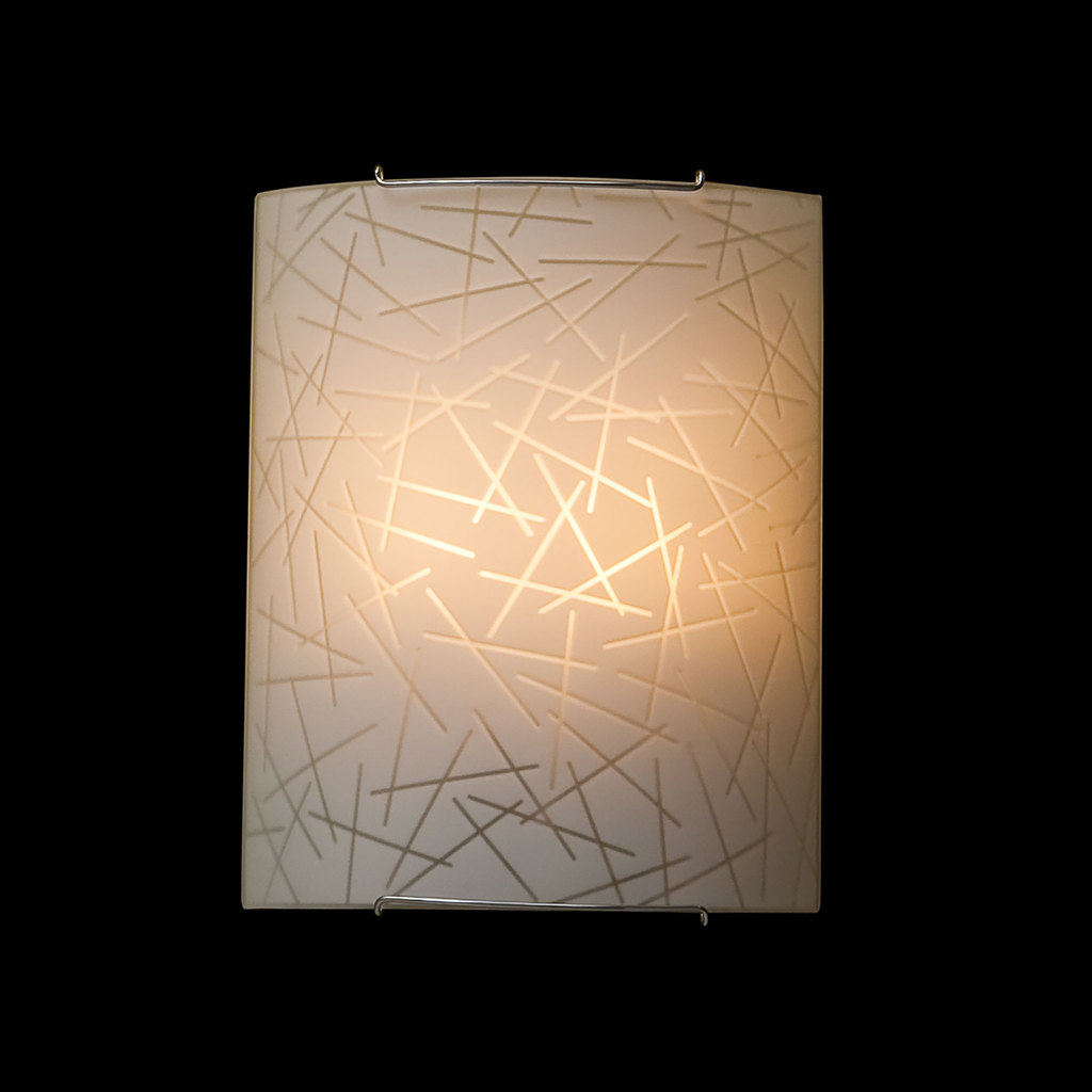 Настенный светильник Citilux Крона CL922061, 2xE27x100W, хром, белый, металл, стекло - фото 2