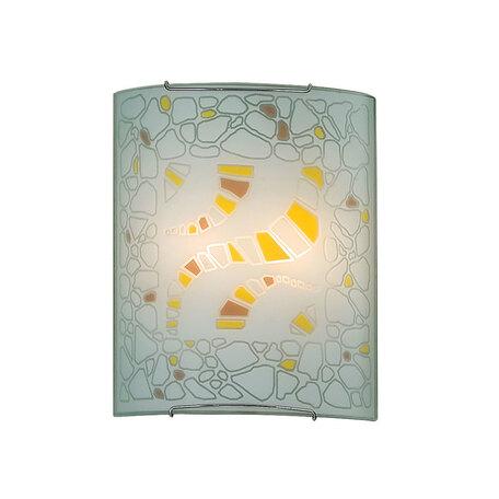 Настенный светильник Citilux Пляж CL922091, 2xE27x100W, хром, разноцветный, металл, стекло
