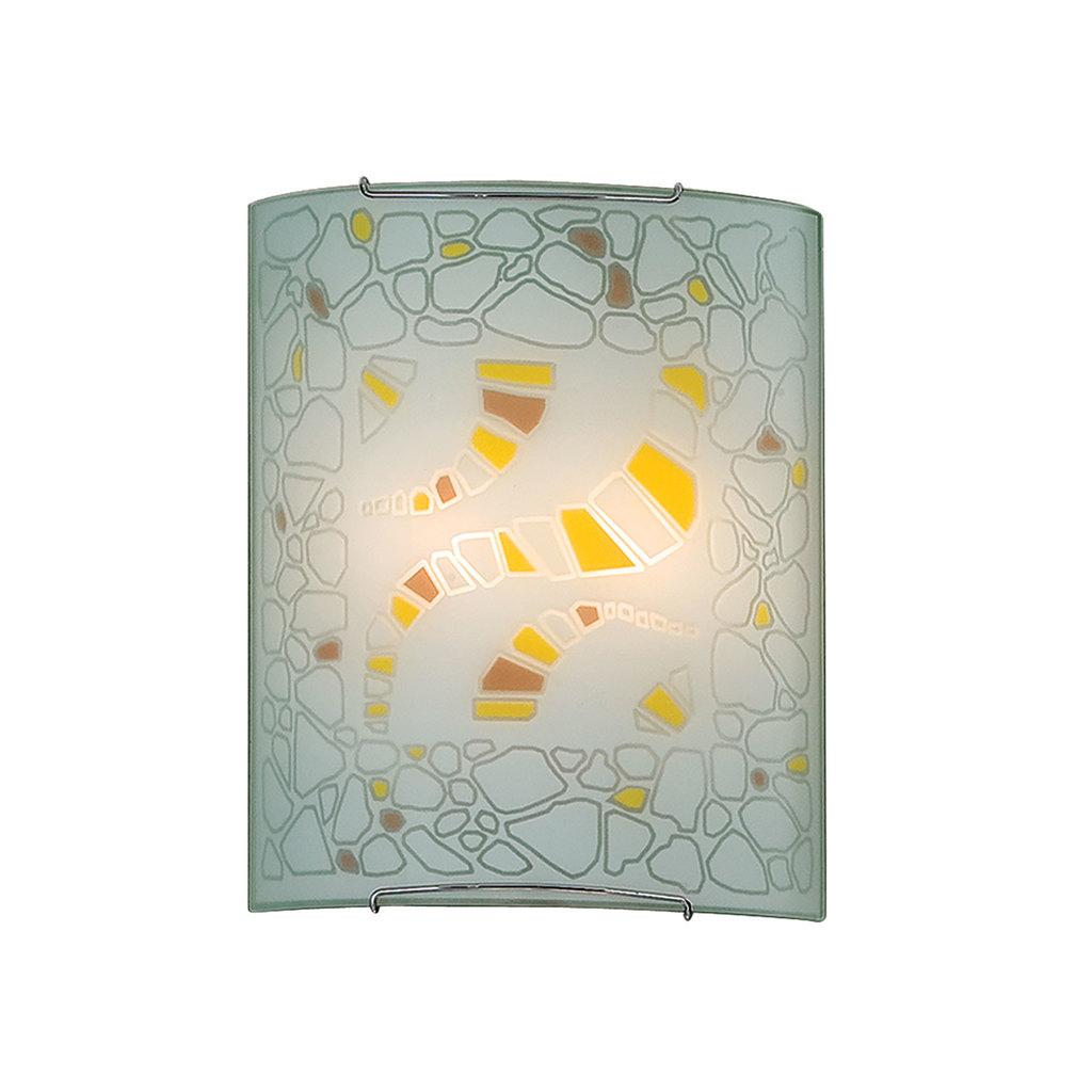Настенный светильник Citilux Пляж CL922091, 2xE27x100W, хром, разноцветный, металл, стекло - фото 1