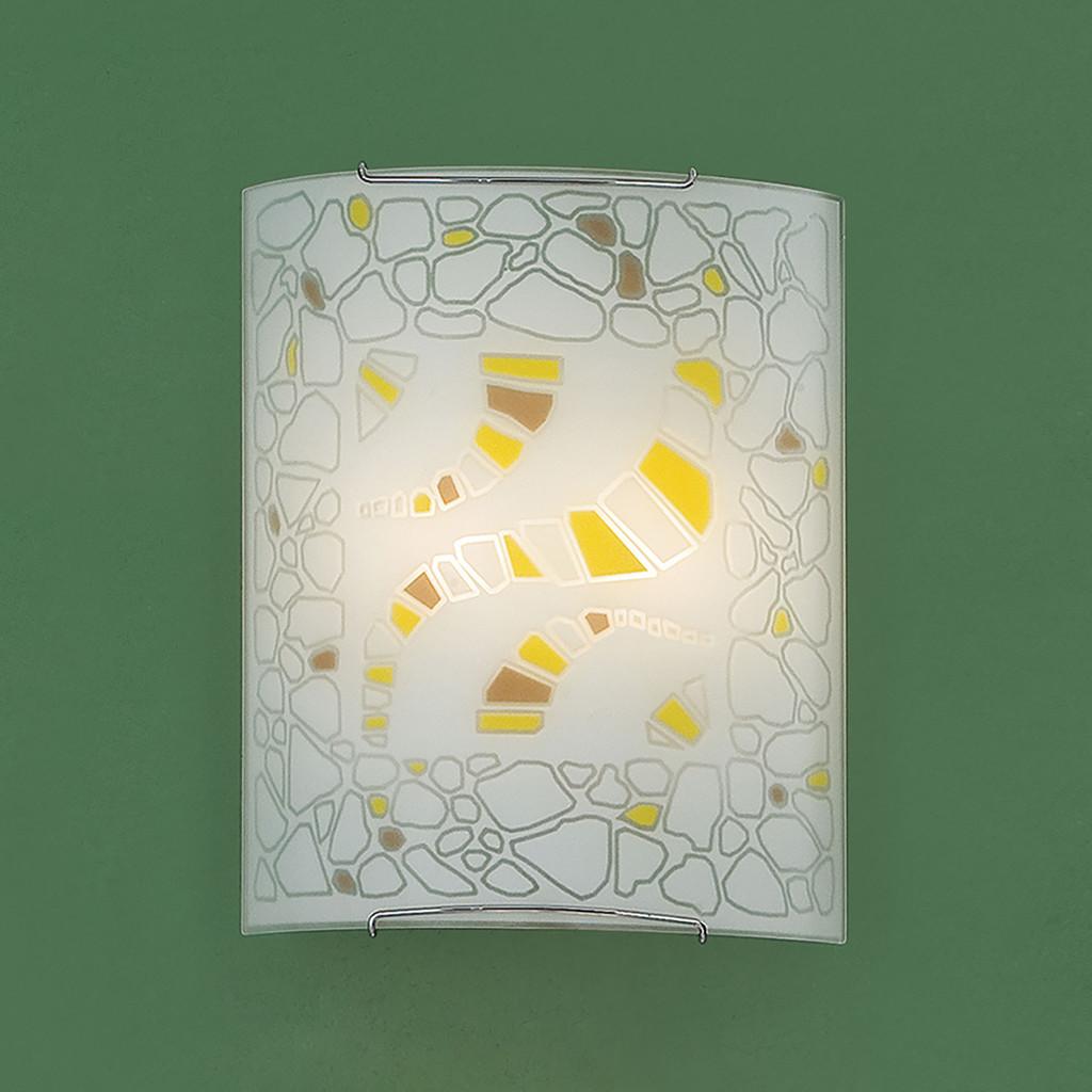 Настенный светильник Citilux Пляж CL922091, 2xE27x100W, хром, разноцветный, металл, стекло - фото 3