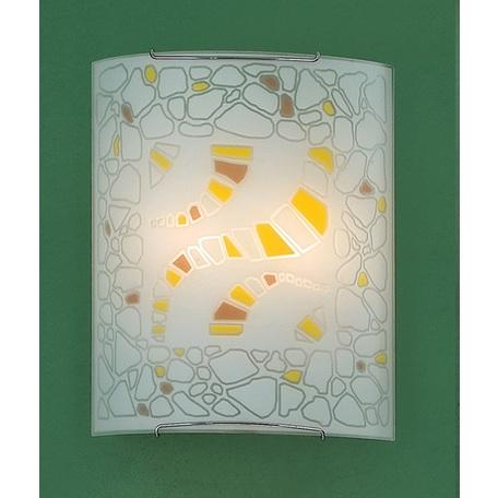 Настенный светильник Citilux Пляж CL922091W, 2xE27x100W, хром, разноцветный, металл, стекло