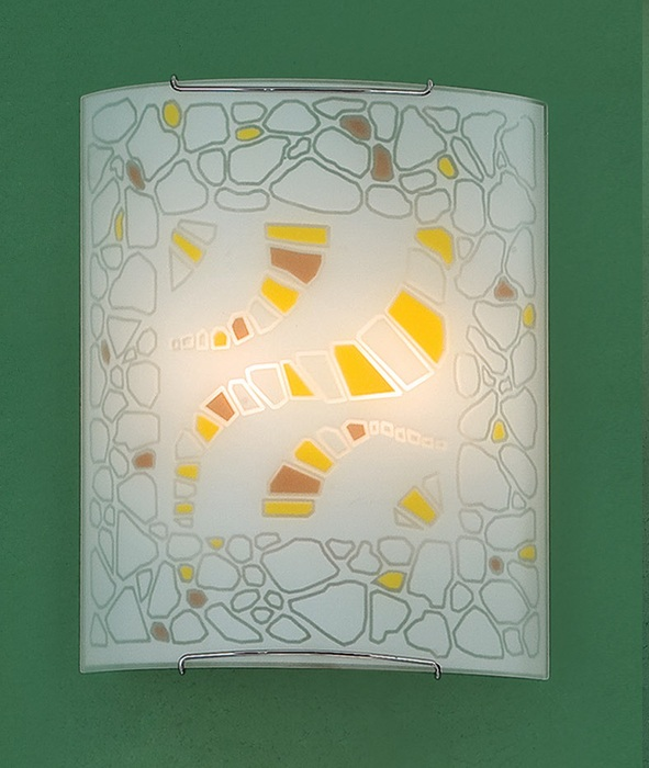 Настенный светильник Citilux Пляж CL922091W, 2xE27x100W, хром, разноцветный, металл, стекло - фото 1