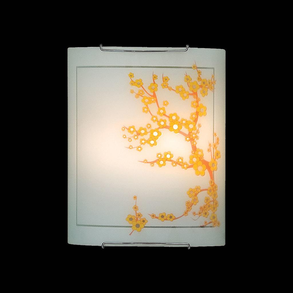 Настенный светильник Citilux Сакура CL922141, 2xE27x100W, хром, белый, желтый, металл, стекло - фото 2