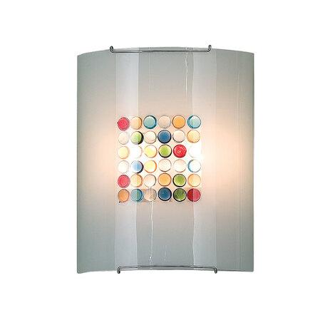 Настенный светильник Citilux Конфетти CL922311, 2xE27x100W, хром, разноцветный, металл, стекло