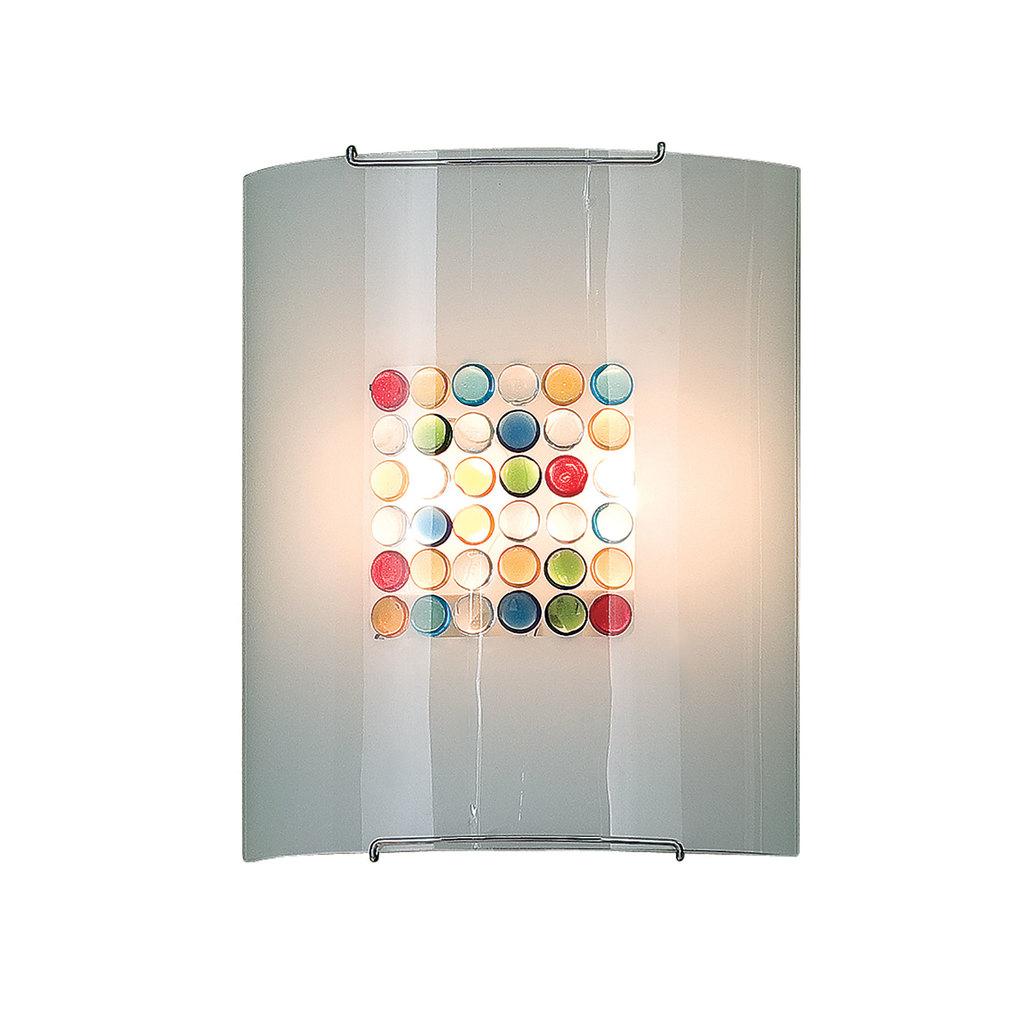 Настенный светильник Citilux Конфетти CL922311, 2xE27x100W, хром, разноцветный, металл, стекло - фото 1