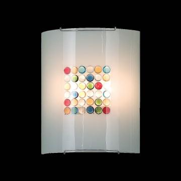 Настенный светильник Citilux Конфетти CL922311, 2xE27x100W, хром, разноцветный, металл, стекло - миниатюра 2