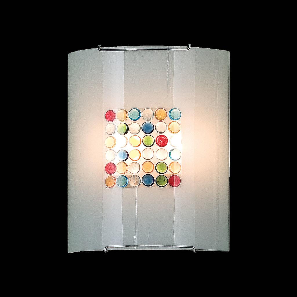 Настенный светильник Citilux Конфетти CL922311, 2xE27x100W, хром, разноцветный, металл, стекло - фото 2