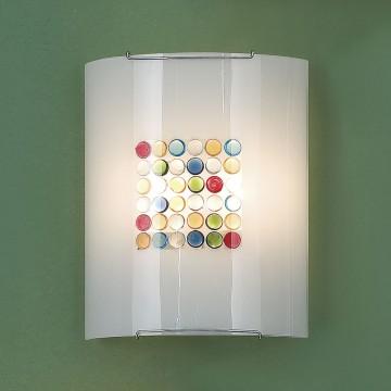 Настенный светильник Citilux Конфетти CL922311, 2xE27x100W, хром, разноцветный, металл, стекло - миниатюра 3