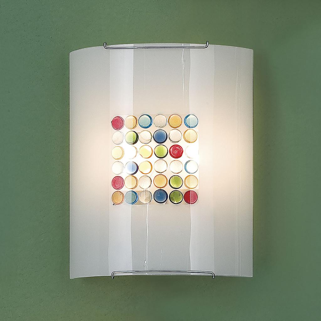 Настенный светильник Citilux Конфетти CL922311, 2xE27x100W, хром, разноцветный, металл, стекло - фото 3