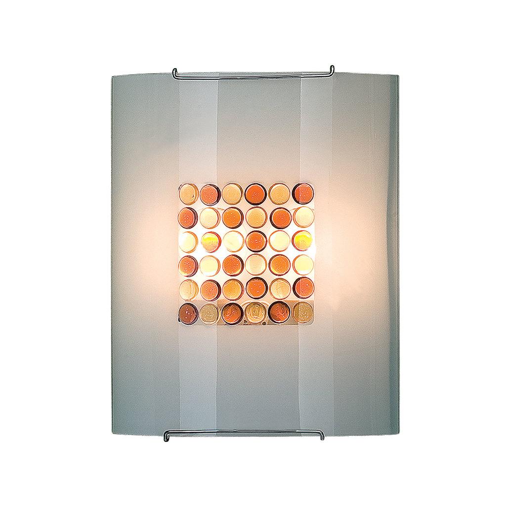 Настенный светильник Citilux Конфетти CL922312, 2xE27x100W, хром, оранжевый, металл, стекло - фото 1