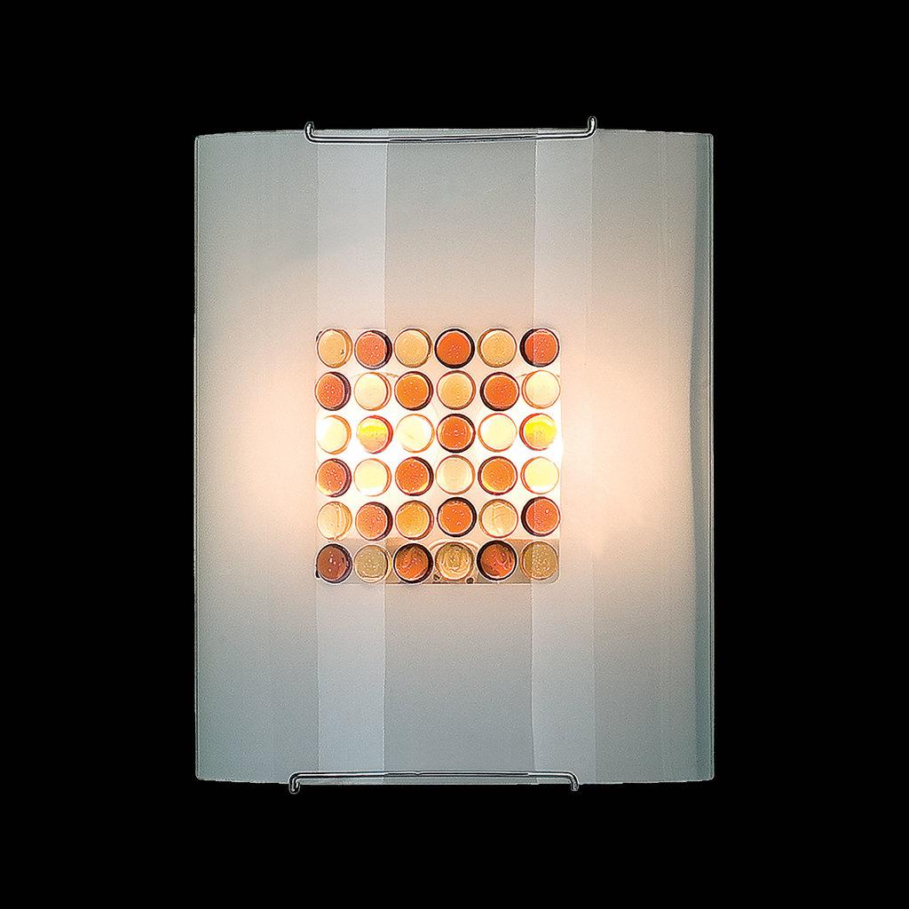 Настенный светильник Citilux Конфетти CL922312, 2xE27x100W, хром, оранжевый, металл, стекло - фото 2
