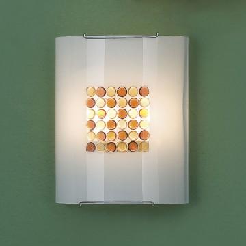 Настенный светильник Citilux Конфетти CL922312, 2xE27x100W, хром, оранжевый, металл, стекло - миниатюра 3