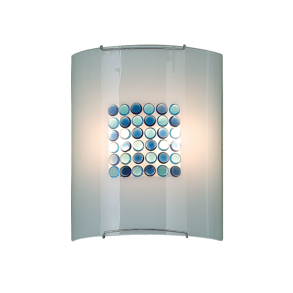 Настенный светильник Citilux Конфетти CL922313, 2xE27x100W, хром, синий, голубой, металл, стекло - фото 1