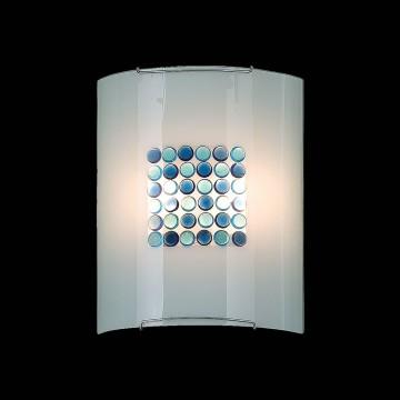 Настенный светильник Citilux Конфетти CL922313, 2xE27x100W, хром, белый, голубой, синий, металл, стекло - миниатюра 2