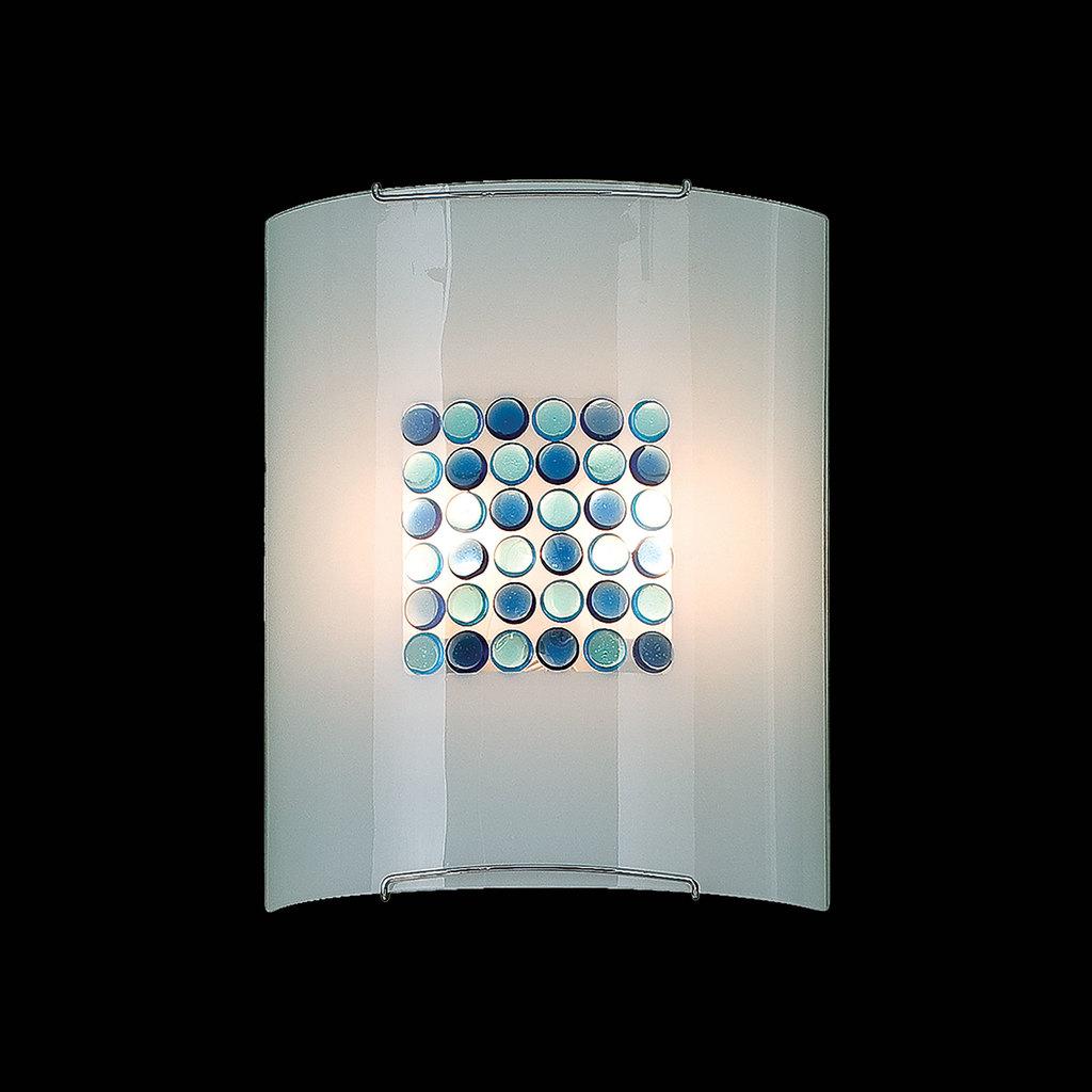 Настенный светильник Citilux Конфетти CL922313, 2xE27x100W, хром, синий, голубой, металл, стекло - фото 2
