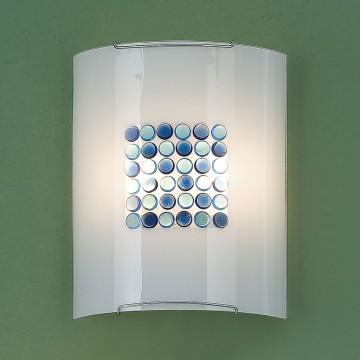 Настенный светильник Citilux Конфетти CL922313, 2xE27x100W, хром, синий, голубой, металл, стекло - миниатюра 3