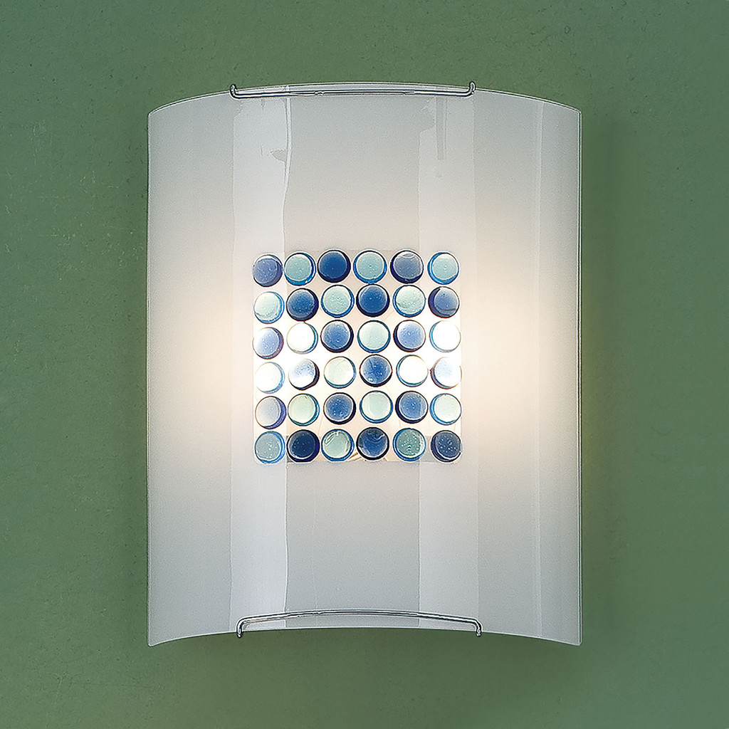 Настенный светильник Citilux Конфетти CL922313, 2xE27x100W, хром, синий, голубой, металл, стекло - фото 3