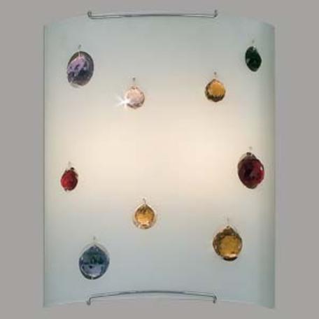 Настенный светильник Citilux Оникс CL922321, 2xE27x100W, хром, разноцветный, металл, стекло