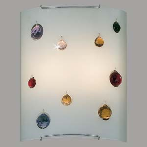 Настенный светильник Citilux Оникс CL922321, 2xE27x100W, хром, разноцветный, металл, стекло - фото 1