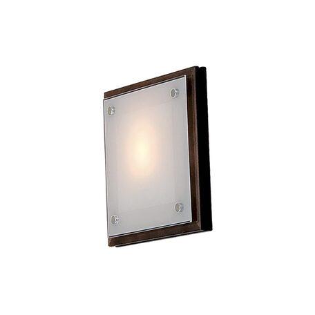 Настенный светильник Citilux CL938311, 1xE27x60W, венге, белый, дерево, стекло