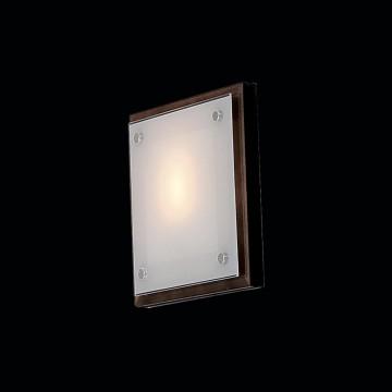 Настенный светильник Citilux CL938311, 1xE27x60W, венге, хром, белый, дерево, металл, стекло - миниатюра 2