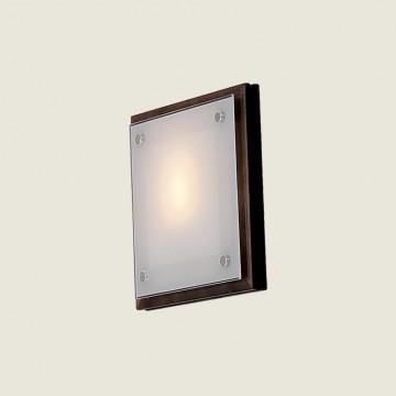 Настенный светильник Citilux CL938311, 1xE27x60W, венге, хром, белый, дерево, металл, стекло - миниатюра 3
