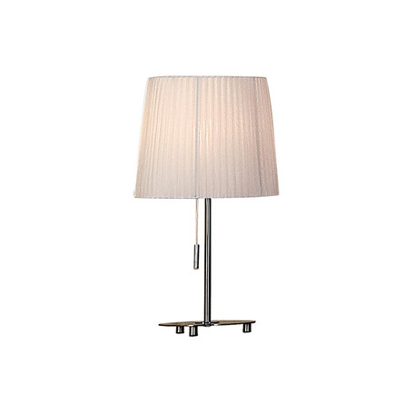 Настольная лампа Citilux Гофре CL913811, 1xE27x75W, хром, белый, металл, текстиль