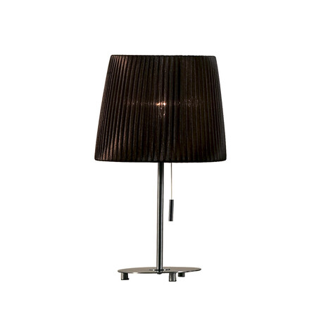 Настольная лампа Citilux Гофре CL913812, 1xE27x75W, хром, коричневый, металл, текстиль