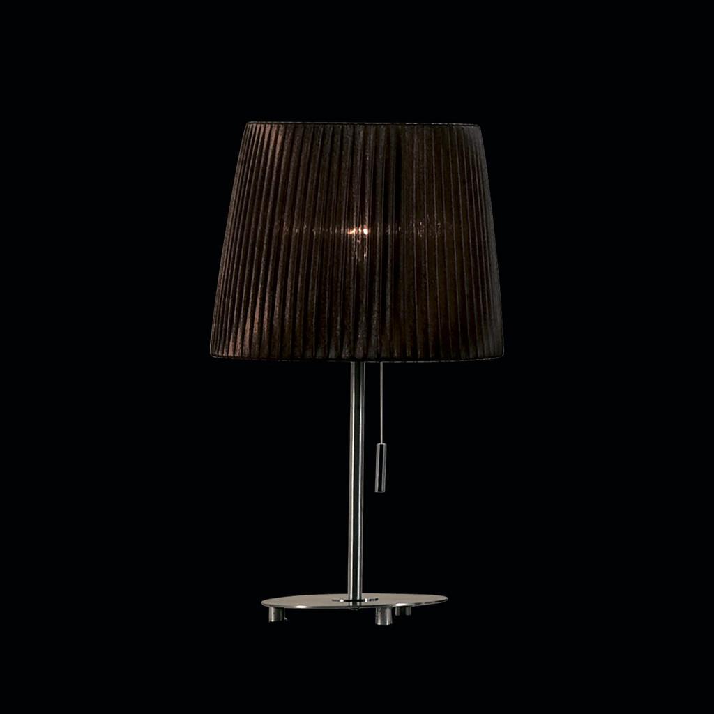 Настольная лампа Citilux Гофре CL913812, 1xE27x75W, хром, коричневый, металл, текстиль - фото 2
