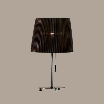 Настольная лампа Citilux Гофре CL913812, 1xE27x75W, хром, коричневый, металл, текстиль - миниатюра 3