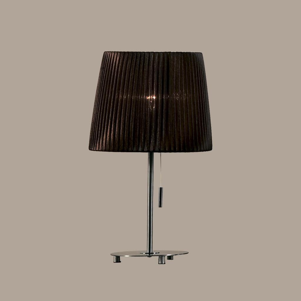 Настольная лампа Citilux Гофре CL913812, 1xE27x75W, хром, коричневый, металл, текстиль - фото 3
