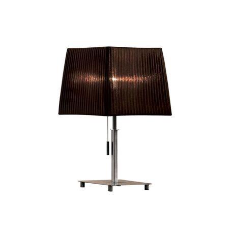 Настольная лампа Citilux Гофре CL914812, 1xE27x75W, хром, коричневый, металл, текстиль