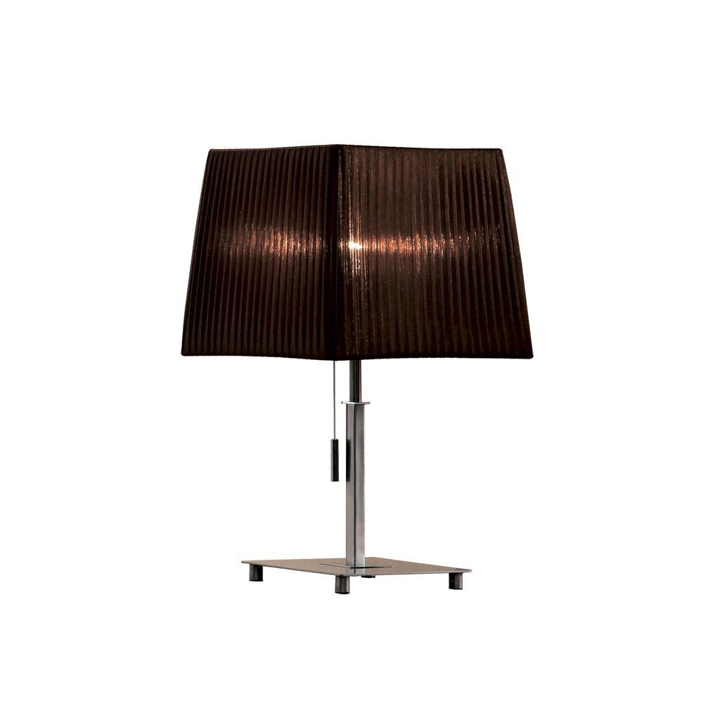 Настольная лампа Citilux Гофре CL914812, 1xE27x75W, хром, коричневый, металл, текстиль - фото 1
