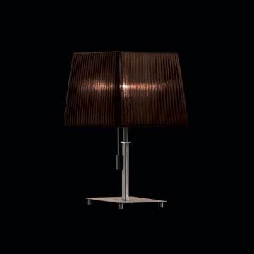 Настольная лампа Citilux Гофре CL914812, 1xE27x75W, хром, коричневый, металл, текстиль - миниатюра 2