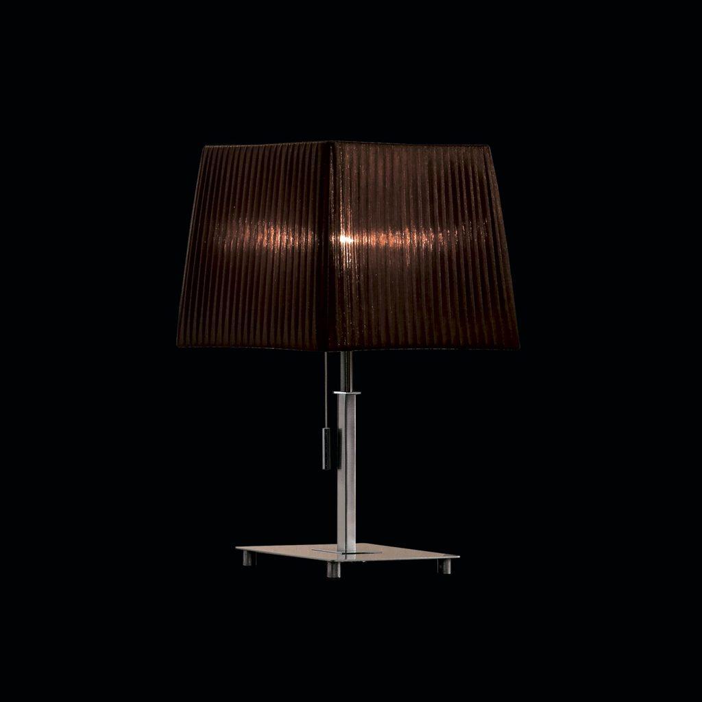 Настольная лампа Citilux Гофре CL914812, 1xE27x75W, хром, коричневый, металл, текстиль - фото 2