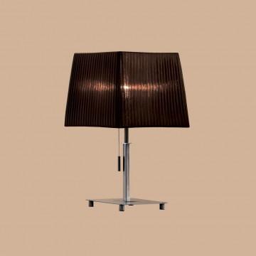 Настольная лампа Citilux Гофре CL914812, 1xE27x75W, хром, коричневый, металл, текстиль - миниатюра 3
