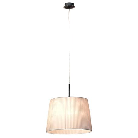 Подвесной светильник Citilux Гофре CL913611, 1xE27x100W, хром, белый, металл, текстиль